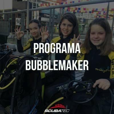 cursos de buceo para niños solo burbujas